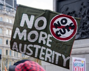 Placard - Anti Austerity Protest April 2016