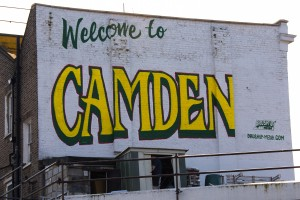 Graffiti - welcome to Camden, London