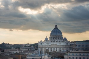 St Peter's Basilica from Castel Sant'Angelo